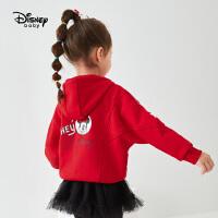 【3折�A估�r:79.3元】迪士尼女童�B帽加�q外套2020秋冬新款�����和�洋�饷啄萆弦鲁�