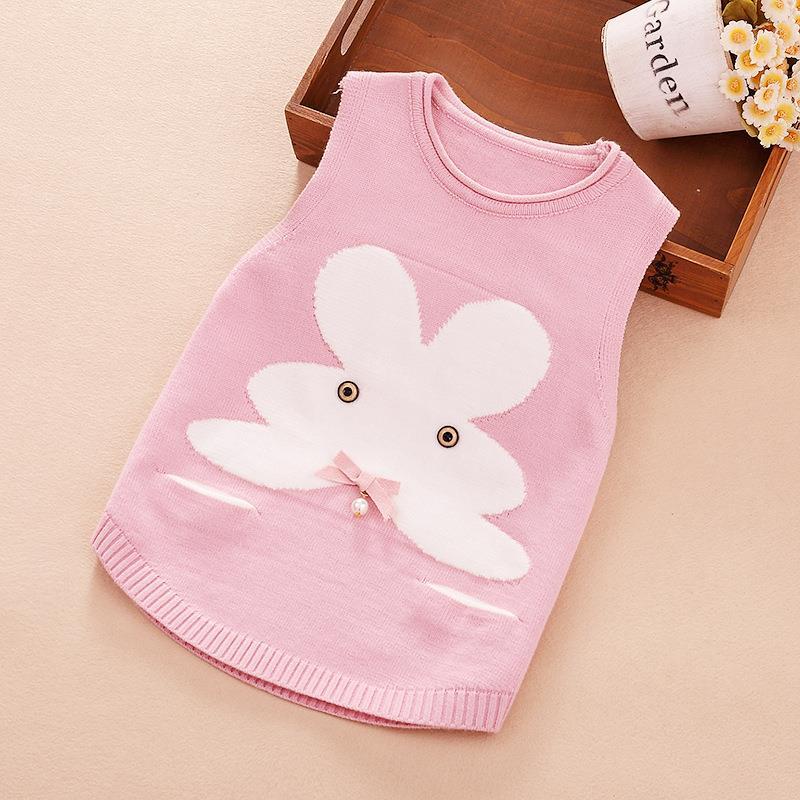 女宝宝马甲背心0-1-3-5岁4韩版毛衣套头女童针织衫婴儿春秋季新款