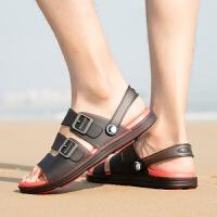 201新品凉鞋男软底防滑两用开车凉拖鞋潮个性男士透气沙滩鞋