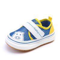 夏季宝宝学步鞋婴儿鞋子男软底凉鞋儿童单鞋女小童透气网鞋