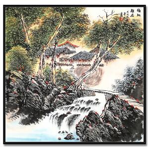 上海美术家协会会员  曾刚 《福地雅居》