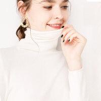 新年礼物加厚堆堆领毛衣女修身长袖打底衫秋冬短款针织高领大码套头毛衣
