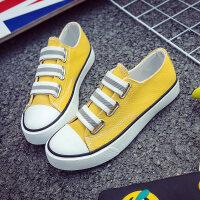 2018秋季新款帆布鞋女鞋一脚蹬懒人鞋韩版平底百搭小白鞋学生布鞋