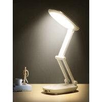 久量LED充电宝小台灯护眼书桌大学生宿舍床头折叠可充电阅读学习