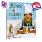 【中商原版】薯片的诞生 英文原版 Mr. Crums Potato Predicament 精装 插画绘本