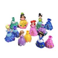 白雪公主美人鱼爱丽儿索菲亚苏菲亚公主人偶 6款女孩玩具娃娃礼物 6款人物+12件衣服