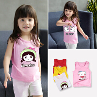 女童背心纯棉夏装宝宝无袖吊带婴儿童薄款打底衫上衣