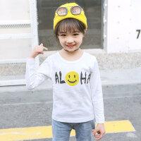儿童T恤 卡通女童长袖T恤2019秋季新款韩版时尚女孩中大童圆领洋气打底衫儿童上衣