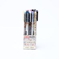 SCM至尚・创美 VP182 学生可爱中性笔 24支盒装销售 0.38mm碳黑中性笔水笔 当当自营