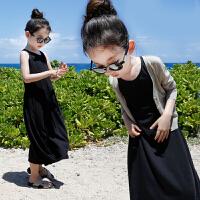 女童连衣裙纯棉背心长裙沙滩裙夏儿童吊带裙子