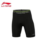 李宁紧身运动短裤男士训练系列速干训练服凉爽针织运动裤AUSL015