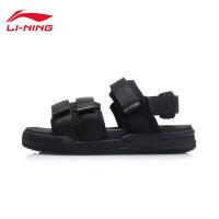 李宁凉鞋男女同款新款轻便魔术贴情侣鞋时尚经典夏季运动鞋AGUP007
