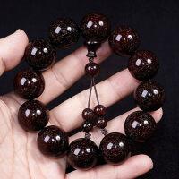 满金星印度小叶紫檀手串男2.0老料高密度木质佛珠108颗手链念珠中秋节礼物品