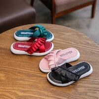 夏季儿童拖鞋女童鞋平底防滑中大童外穿一字拖沙滩凉拖鞋