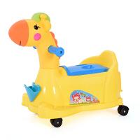 儿童马桶坐便器女1-3-6岁宝宝坐便器男小孩婴幼儿加大号便盆尿盆 黄色送刷子+轮子 萌鹿坐便器带音乐