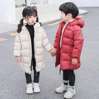 儿童羽绒中长款男女童棉衣小孩棉袄宝宝加厚童装外套