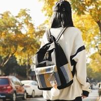 古着感少女书包女帆布双肩包高中大学生韩版森系日版校园简约百搭