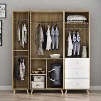 简易衣柜简约现代经济型组装板式衣柜推拉门卧室小户型衣橱 AB 2门