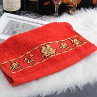 创意全棉绣花红色毛巾老公老婆 婚庆用品结婚礼品婚房布置回礼情侣