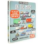 英文原版绘本 Little Explorers on the Move 小探险家在行动 纸板翻翻书 交通工具 科普百科