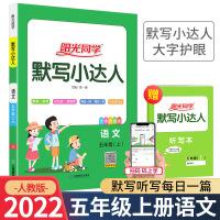 阳光同学默写小达人五年级上册语文部编人教版2021新版