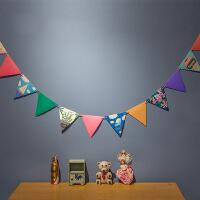 孩派 生日用品 度假风派对彩旗 三角纸彩旗 生日聚会装饰拉花