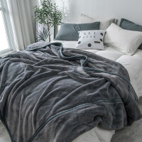 珊瑚绒毯子冬季加厚保暖法兰绒毛毯夏季学生单人薄款双人空调被子y