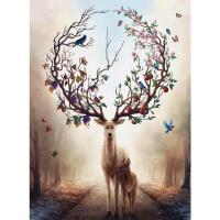 拼图500/300片木质减压送情侣创意礼物儿童玩具益智温馨小鹿
