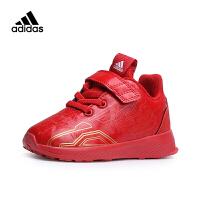 【4折价:171.6元】阿迪达斯(adidas)童鞋春款儿童运动小童漫威钢铁侠男女婴童跑步鞋AH2686 红色