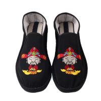 老北京布鞋布鞋男休闲刺绣色青年懒人帆布鞋