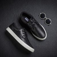 春板鞋男韩版潮流休闲鞋低帮学生百搭加绒保暖青少年平底鞋子