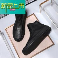 新品上市马丁靴男潮真皮高帮韩版短靴冬季低帮皮靴中帮加绒复古靴男