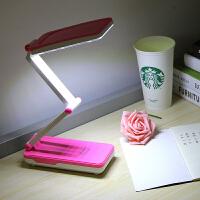 学习护眼卧室床头充电台灯 折叠式学生阅读写字小台灯