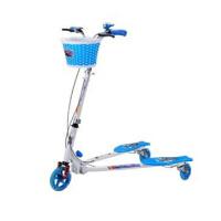 时尚可爱可折叠闪光轮 双后刹蛙式车   儿童蛙式滑板车  三轮车玩具减震童车