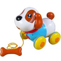 儿童智能对话感应狗电动机器狗拉线牵绳拖拉狗玩具狗