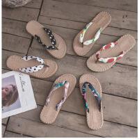 时尚百搭人字拖女防滑凉拖鞋平底夹脚沙滩鞋海边拖鞋女