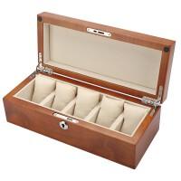 盒箱五只装红樱桃木实木制手表盒子手串链展示收藏收纳