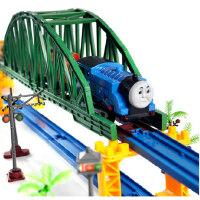 大型托马斯轨道火车电动玩具 声光版儿童玩具 双层轨道火车