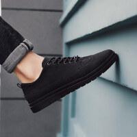 板鞋男生小皮鞋子男潮鞋百搭冬季2018新款男鞋社会鞋男精神小伙