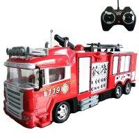儿童遥控消防车会喷水仿真充电大号电动洒水车男孩救火车玩具 喷水消防车