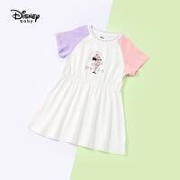 迪士尼宝宝奥运庆典女童时尚连衣裙夏季新品