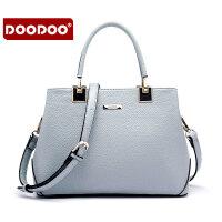 【支持礼品卡】DOODOO2018新款时尚女包欧美风简约女款手提单肩斜跨女士包包 D5072