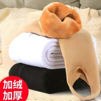 女童连裤袜秋冬加绒加厚儿童踩脚打底裤保暖白色舞蹈袜长筒袜
