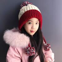 韩版潮款秋天冬季儿童毛线帽子男女童加绒保暖针织小孩宝宝套头帽