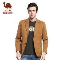 骆驼CAMEL 男装 春季新款西服 男士商务便服单西 单排扣西装