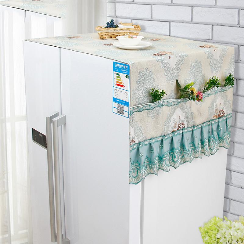 海尔双门冰箱罩防尘罩对开门冰箱盖巾收纳袋蕾丝三开门大冰箱盖布抖音 本店数据均属于一些厂家实验,仅供参考,具体以实物为准。