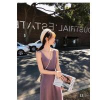 2019新款网红套装裙子女秋冬季洋气减龄开衫毛衣两件套连衣裙