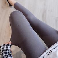 秋季外穿加肥大码打底裤女胖mm200斤弹力薄款棉字母运动八分裤