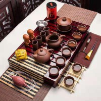 全紫紫砂茶博士茶�靥籽b功夫茶具套�b家用整套��s��木茶�P茶�毓Ψ虿杈咛籽b
