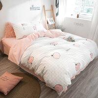 床上四件套棉1.8/2.0m床简约双人床单三件套学生宿舍单人女y